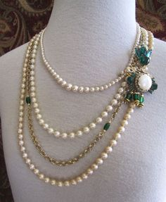 the Gone With the Wind necklace- repurposed, upcycled vintage jewelry OOAK. $42.00, via Etsy. #VintageJewelry