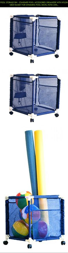 Pool Storage Bin - Standard Pool Accessories Organizer with Nylon Mesh Basket for Swimming Pool Decks, Patio and on the Beach | Holds Beach Towels, Balls, Linens and floatation Devices #camera #drone #technology #accessories #plans #products #shopping #gadgets #parts #fpv #racing #kit #pools #tech