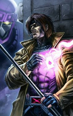 GAMBIT (colored) by grandizer05 on @DeviantArt