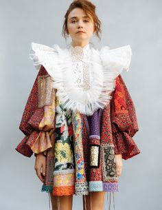 viktorandrolf Jessica Barden wearing 'Patchworks' in Stylist Photo by Glam by and VR Colorful Fashion, Cute Fashion, Fashion Art, High Fashion, Fashion Trends, Fashion Project, Fashion Details, Bunt, Passion For Fashion