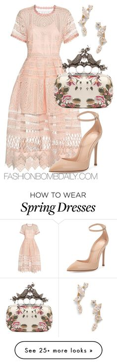 """""""Spring Wedding"""" by dnicoleg on Polyvore featuring Alexis, Alexander McQueen, Gianvito Rossi and Nadri"""
