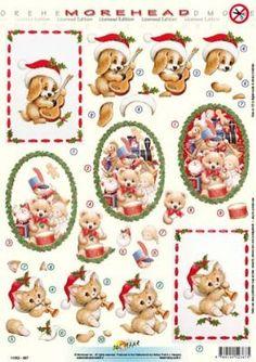 MOREHEAD 367 CHRISTMAS DIE CUT DECOUPAGE SHEET