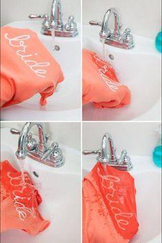 Bride DIY shirt