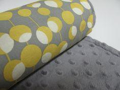 Grey  Minky Baby Blanket Amy Butler Martini by ButterBrickleBaby, $32.00