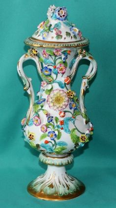 Coalport Coalbrookdale Style Porcelain Vase c.1830