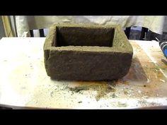 Beton giessen -Großer Pflanztrog aus Hypertufa mit Perlite, Blumenerde und Zement - YouTube
