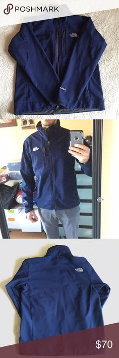 North Face Apex Jacket North Face Apex Full Zip Softshell Jacket. Wind Resistant exterior shell and soft, light fleece interior. Velcro wrists. Jacket is used, but in very good condition....no holes, tears or zipper problems. The North Face Jackets & Coats