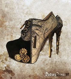 Steampunk Ankle Boots new edition