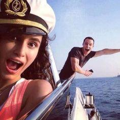 Hande ve Kerem Leyla Tanlar, Turkish Actors, Celebs, Celebrities, Cute Boys, Monaco, Movie Tv, Tv Series, Captain Hat