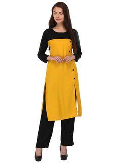 Yellow Cotton Readymade Tunic 101309