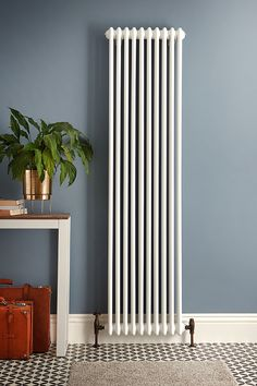 Create your dream hallway with the classic comfort of our white Windsor column radiators. Browse the range at BestHeating. Create your dream hallway with the classic comfort of our white Windsor column radiators. Browse the range at BestHeating. Vertical Radiators, Column Radiators, Kitchen Radiators, Room Paint Colors, Paint Colors For Living Room, Hallway Paint Colors, Art Deco Living Room, Living Room Grey, Curtains And Radiators