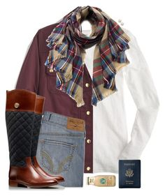 """• Read D for quick vent! •"" by chevron-elephants ❤ liked on Polyvore featuring J.Crew, Royce Leather, Hollister Co., Tory Burch and Kate Spade"