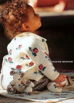 Комплект для девочек с орнаментом розочки - Modnoe Vyazanie ru.com
