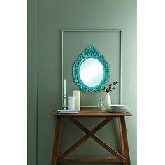 teal baroque mirror