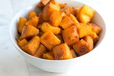 Cinnamon Roasted Butternut Squash Recipe - next time would cook for less time because the bottoms burned even though I stopped it 5 min early but the flavor was still good