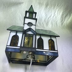 Stained Glass Lamp Tiffany Style Chapel Holiday Accent
