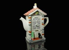 Teapot Swineside Ceramics England The Door by MountainAireVintage