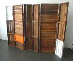 produce pallets as a room divider