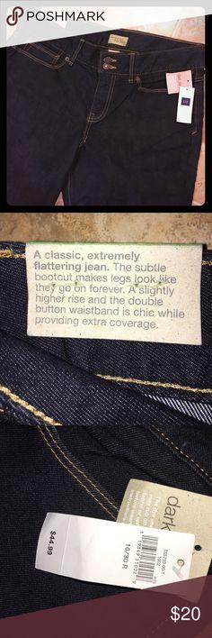 GAP jeans NWT dark denim essential bootcut jeans. Length is 30 GAP Jeans Boot Cut