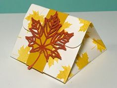 Autumnal Triangular Gift Box - Video Tutorial with Colourful Seasons by Stampin' Up - YouTube