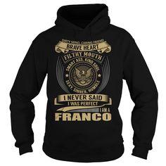 FRANCO Last Name, Surname T-Shirt