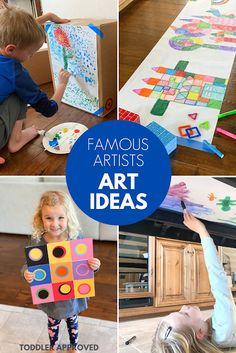 Famous Artists Activities for Kids - Toddler Approved!: Famous Artists Activities for Kids - Lesson Plans For Toddlers, Preschool Lesson Plans, Preschool Learning, Teaching Kids, Toddler Activities, Preschool Activities, Early Childhood Activities, History For Kids, Crafts For Kids