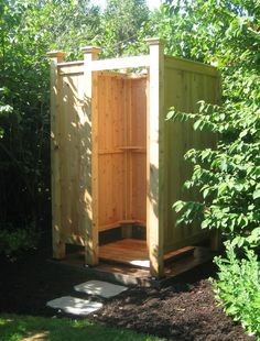 When you're looking for Cedar Outdoor Showers Enclosures, Stonewood Products offers many styles for your home or development. These kits are easy assembly.