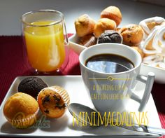 Relaxing Cup of Café con Leche with Mini Magdalenas Pasdulce. www.pasdulce.com