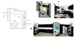 Plano de Instalaciones para la Reforma de una Cocina Floor Plans, Kitchen, Home, To Tell, Small Kitchens, Decorating Kitchen, Kitchen Furniture, Furniture Layout, Cucina