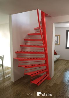 EeStairs is renowned for bespoke design, but did you know that we have a compact standard staircase available for limited space locations? The by EeStairs® is designed to suit situations where space is at a premium, such access to a loft room. Home Stairs Design, Interior Stairs, House Design, Stair Design, Space Saving Staircase, Small Staircase, Spiral Staircases, Loft Stairs, House Stairs