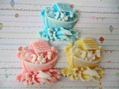 60 Noah's Ark baby shower soap favor - baby boy shower, baby girl shower, twins shower, baby sprinkle