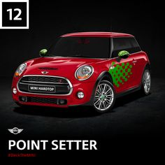 In our family, we always celebrate Poinsettia Day with a few vivid laps around the track. #DeckTheMINI
