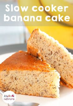 This moist banana cake is made in the slow cooker, so you can bung the mix in and leave it to do its thing. You've tried banana bread, now it's time for banana cake!