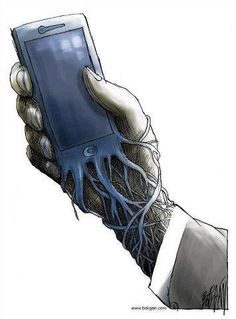 Banksy, the U. street artist who doesn't shy from making commentary on social and technology issues with his graffiti street art, published a new sketch with a terrifying reminder that your iPhone has basically become a parasitic extension. Graffiti, Art Sketches, Art Drawings, Street Art, Gcse Art, Urban Art, Caricature, Amazing Art, Awesome