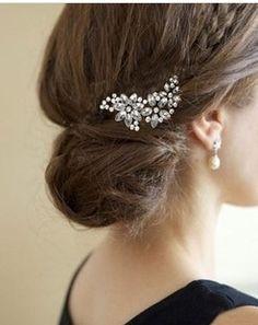 Pas cher Accessoires de mode Vintage strass Barrette Daisy Bang clip pour Clips Femme Fleur Cheveux
