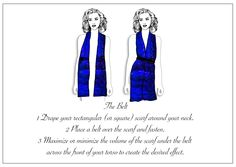 #thebelt #lauraorchant #howtotie #scarves #scarf #tips and #ideas to look #beautiful and #creatuve with your #wardrobe #staples #silk #fun #inspired