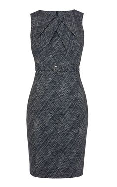 Cross hatch jacquard pencil dress | Luxury Women's shop_all | Karen Millen