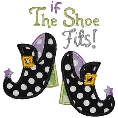 If Witch Shoes Fit Applique