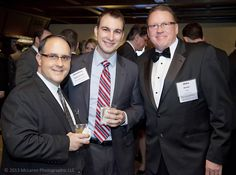 Jonathan Badalamenti, First Midwest Bank (c) and Mike Dexter (TMA)  Banquet at the Butterfield Country Club, Oak Park Illinois on March 23, 2013 #TMA #McLarenPhotographic #mclarenphotos © 2013 McLaren Photographic LLC http://www.mclarenphotographic.com