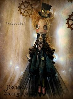 Urchin art doll Steampunk 'Kaboodle' by Vicki @ Lilliput Loft
