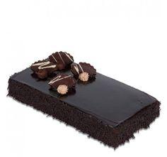 Square Dutch Truffle chocolate cake.