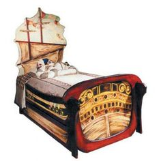 Pirate bed, pirate theme, boys bed, boat bed, ship