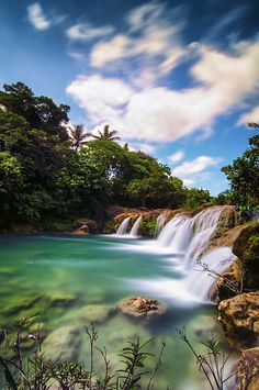 Take a Dip - One  of the three waterfalls in the town of Bolinao, Pangasinan (Philippines) where one can take a cool and refreshing dip.
