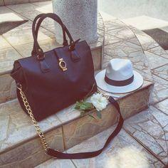 Black leather handcrafted bag by Cristina Cupar Leather Bag, Black Leather, Bags, Fashion, Handbags, Moda, La Mode, Fasion, Totes