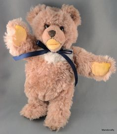 #Steiff Cosy #Teddy Bear Caramel Dralon Plush 26 cm Glass Eyes no ID 1960s Jointed