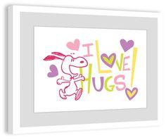 I Love Hugs Framed Art Print