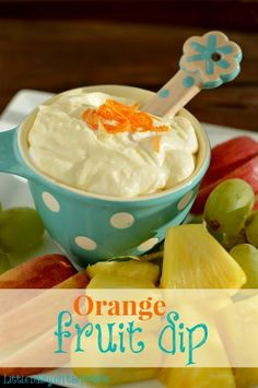 A light and refreshing fruit dip!