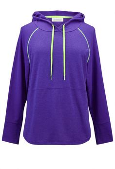 5f6116eb044 Neon Trim Pullover Hoodie Size Clothing