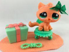 Littlest Pet Shop RARE Orange Tabby Cat #2603 w/Green Eyes & Accessories in Toys & Hobbies, Preschool Toys & Pretend Play, Littlest Pet Shop | eBay