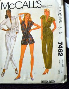 Vintage Sewing Pattern McCall's 7462 Misses by GoofingOffSewing